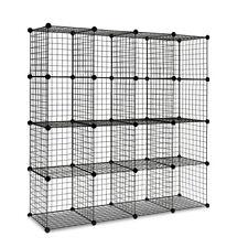 16 Cube DIY Wire Storage Cabinet Display Shelf Bookcase Organiser Plant Stand BK
