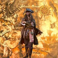 "1/6 Pirate Jack Sparrow Diorama 15""x15"" - Ideal For Hot Toys DX06 DX15 POTC"