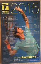 Roger Federer Tennis Channel Promo 2015 11X17 Laminated Tennis Schedule