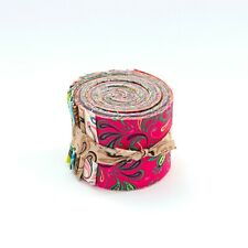 2.5 inch Fleur De Lis  Jelly Roll 100% cotton fabric quilting 17 strips -