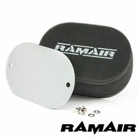 RAMAIR Carb Bolt On Air Filters With Blank Baseplate - 25mm Internal Height