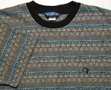New listing Vintage 1980-90s Op Ocean Pacific Striped All-Over Print Surf USA Medium Shirt