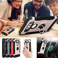 For LG V30 Plus / V35 ThinQ Shockproof Ring Stand Hybrid Rubber Hard Case Cover