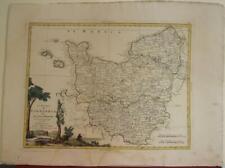 NORMANDY (NORMANDIE) FRANCE 1777 ZATTA ANTIQUE ORIGINAL COPPER ENGRAVED MAP