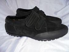 FRATELLI MILLIORETI homme en cuir noir/Caoutchouc Velcro Chaussures Taille UK 11 EU 45 très bon état
