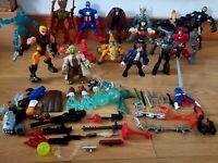 Action Figures Job Lot Bundle Marvel Jurassic World Hasbro + Accessories