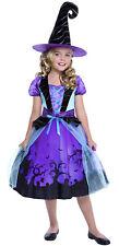 Caldera Cutie Niños Niñas Violeta Bruja Clásico Halloween COSTUME-S