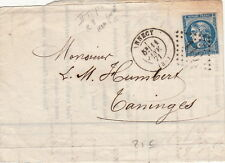 Lettre/Cover France 20c Type Borbeaux >> Annecy 1871