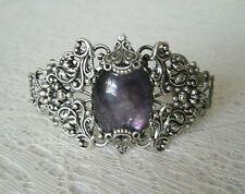 Amethyst Cuff Bracelet, victorian art nouveau art deco medieval renaissance goth