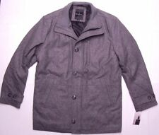 London Fog Men Antone Zip/Button Wool Fitted Car Jacket Coat L10335 Gray L $199