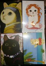 Korean Jetoy Choo Choo Cat Postcard/Invitation/Party Favor/PenPal 4pcs Set 10