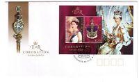 "2003 FDC. Australia. QEII Coronation Golden Jubilee. M.S. PictFDI ""ELIZABETH"""