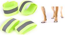 Hola Vis Perro Correa de pierna caminar 4 bandas de Tobillo Reflectante Seguridad Alta Visibilidad