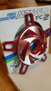 NOS BMX TIOGA FORCE CONNECTION SPIDER POWER DISC RED MAX FLO OLD SCHOOL