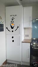 Olaf Frozen let it go christmas Fridge Decal, Door, wall, window,  kids xmas uk