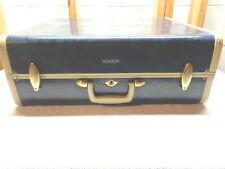 """Vintage Shwayder Bros Samsonite Blue Marble 21"""" Suitcase"""