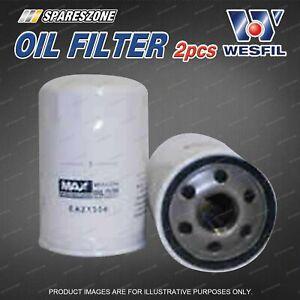 2 x Wesfil Oil Filters for Jaguar S Type AJ28 34 XJ8 X300 XJR X350 XK8 X100 AJ26