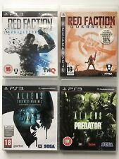 Aliens Vs Predator+Aliens Colonial+Red Faction+Red Faction2-PS3 Game Bundle-1052
