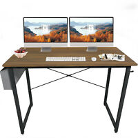 """40"""" Computer Desk With Storage Bag,Home Office Writing Study Desk, Modern Table"""