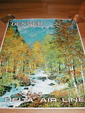 DELTA AIRLINES POSTER TO DENVER ORIGINAL LAYCOX LOT OF 50 NEW OLD STOCK POSTERS