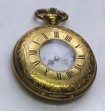"POCKET WATCH, NEW&MINT, GOLD COLOR ""VERITY"", WIND UP. FULLY WORKING"