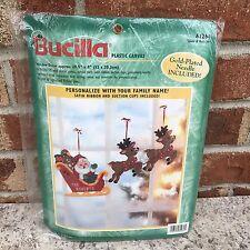 Bucilla Santa & Reindeer Christmas Window Canvas 61264 Personalize NIP