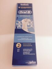 BRAUN ORAL B Interspace Power Tip Toothbrush Heads - Pack of 2 - IP17-2