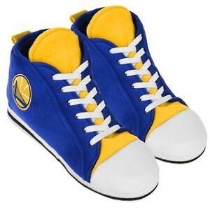 Golden State Warriors High Top Sneaker SLIPPERS New - FREE U.S.A. SHIPPING