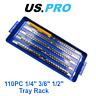 "US PRO 110pc 1/4"" 3/8"" 1/2""  Socket Storage Tray Rack 1494"