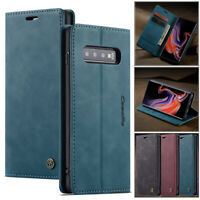 Magnetic Leather Card Wallet Flip Stand Case Cover For Samsung Galaxy S10+ Plus