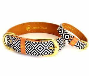 Dog Collar and Matching Friendship Bracelet Set / Black & White Collar
