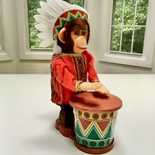 ~Nos!~Authentic~In-Box~Vi ntage Big John The Chimpee Chief w/Indian Drum+Whistles