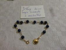 L / fond de stock bracelet  à perle en lapis lazuli long  20 cm fab France
