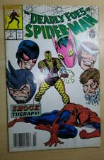 THE DEADLY FOES SPIDER-MAN #3 OF 4 RARE NEWSSTAND VARIANT MARVEL COMIC.1991