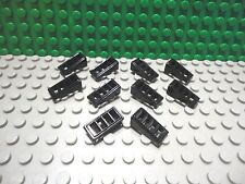 Lego 10 Black 2x1x2/3 technic slotted grille slopes brick block NEW