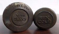 Rex Cole NY Electronics,Refrigerators,Antique Uniform Button Die,Male/Female Set