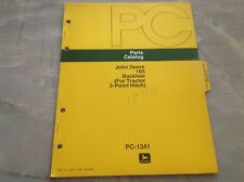 John Deere 165 Backhoe For Tractor 3 Point Hitch Parts Catalog Pc 1341