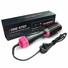 3in1 Hair Straightener Dryer Detangling Comb Volumizer Curler Styling Hairbrush