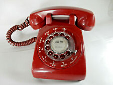 Vintage BRIGHT RED Rotary Bell System Dial Phone Model 500DM Telephone
