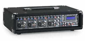 4-Kanal DJ PA Power Mischer Misch Verstärker Mixer USB SD MP3 Player Effektgerät