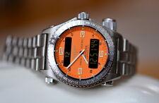 Breitling Emergency Titanium Orange 42mm Watch Ref E56121.1 Used Rare