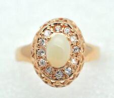 Anelli di lusso naturali opale argento sterling