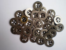 15 ANTIQUE SILVER METAL BUTTONS SIZE 15mm