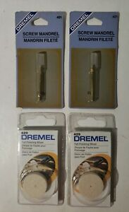Dremel 401 Mandrel / 429 Felt Polishing Wheel- LOT OF 4 - NEW OLD STOCK
