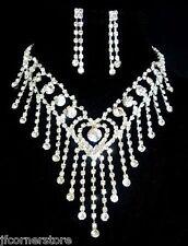 BRIDAL/WEDDING  Crystal/Diamonte Necklace Set *157*