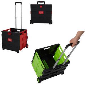 VILOBOS Folding Shopping Cart Rolling Grocery Luggage Trolley Basket Utility Bag