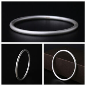 D08 Discreet Bangle Matte Frosted 999 Fine Silver Various Sizes