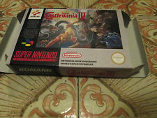 Super Castlevania IV - PAL  - Super nintendo - Snes - Only Box