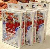2021 Topps Baseball Series 1 - LOT OF 3 - Factory Sealed - 67 Card Hanger Boxes