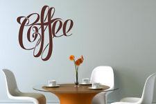 Fancy Script Coffee Schild Vinilo Pegatinas De Pared Adhesivo Decoración